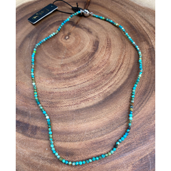 African Turquoise Choker (Backordered, please allow extra time)