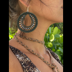 Army Macrame Hoops
