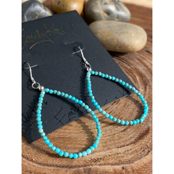 Turquoise- small hoops